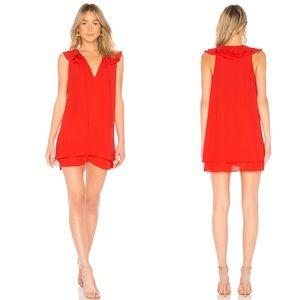 Amanda Uprichard Belle Mini Dress Red Small